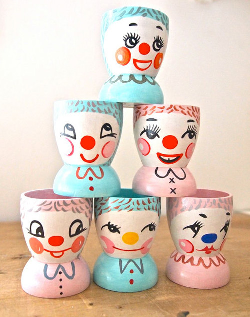 Hand-Painted Egg Cups